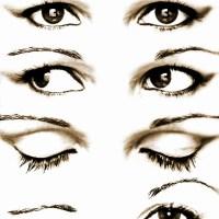 Oczy otwarte zamknięte przymrożone