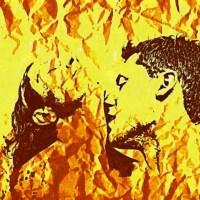 Ognisty pocałunek namiętność kochanek całuje kochankę w szyje on ona kobieta mężczyzna