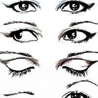 Para oczu z cieniami