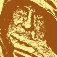Zamyślony stary człowiek