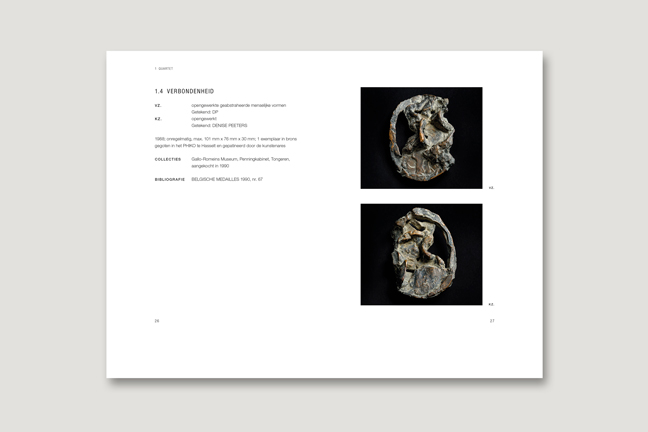 dubbele pagina 'Multiple Choice' - ontwerp Miet Marneffe