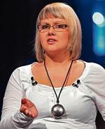 """Klaudyna Andrzejewska  w 2009 roku w programie TVN """"Teraz my"""" (fot. Wojciech Kurczewski)"""