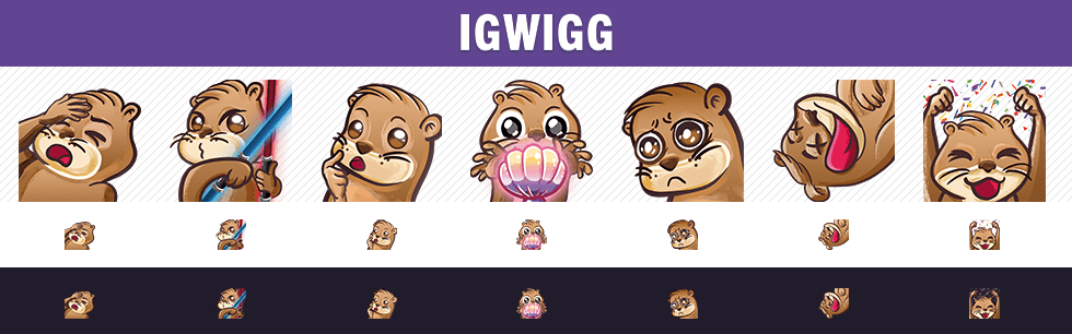Igwigg Twitch Badges und Emote Design