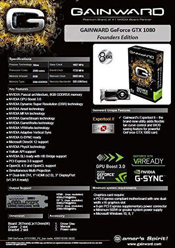 Gainward Nvidia GeForce GTX 1080 Founders Edition PCI-Express-Grafikkarte (8 GB, GDDR5X) grau - 4