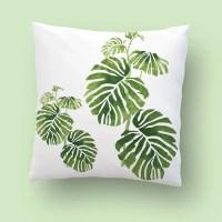 Buitenkussen groene plant