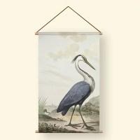 Textielposter blauwe reiger
