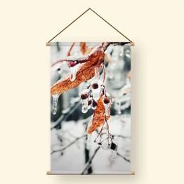 Textielposter ijs bladeren