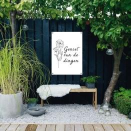Tuinposter genieten