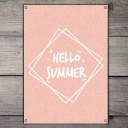 Hello summer tuinposter