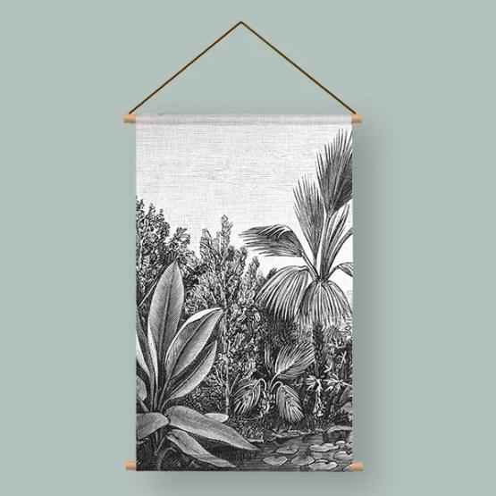 Textielpsoter retro jungle