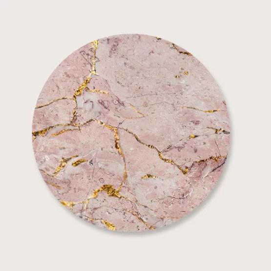 Muurcirkel marble roze