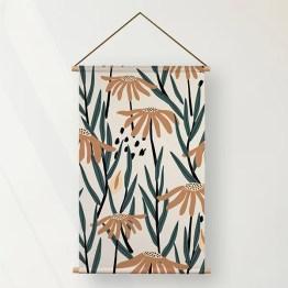 Textielposter daisy