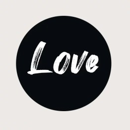 Love muurcirkel