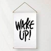 Textielposter wake up