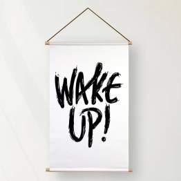 Textielposter wake up