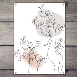Vrouw tuinposter