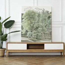 Canvas akoestisch paneel bomen