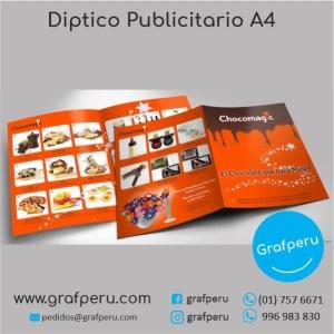 DIPTICO PUBLICITARIO A4 MEDIO A3 ECONOMICO GRAFPERU LIMA PERU BARATO