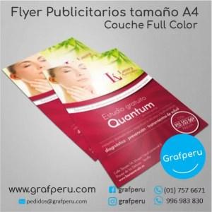 FLYER A4 COUCHE PUBLICITARIOS GRAFPERU LIMA PERU