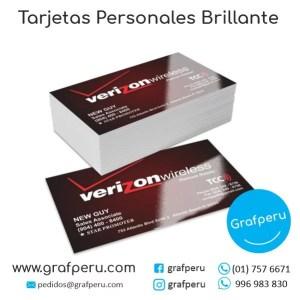 TARJETAS PERSONALES BRILLANTE DE PRESENTACION BARATAS GRAFPERU LIMA PERU