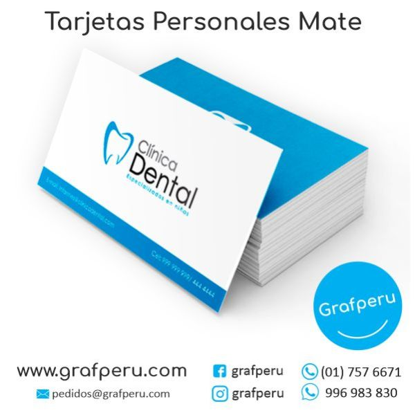 TARJETAS PERSONALES MATE DE PRESENTACION BARATAS GRAFPERU LIMA PERU