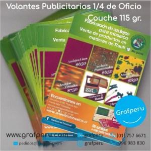 VOLANTES MOSQUITOS COUCHE 115 A6 1-4 OFICIO PUBLICITARIOS GRAFPERU LIMA PERU