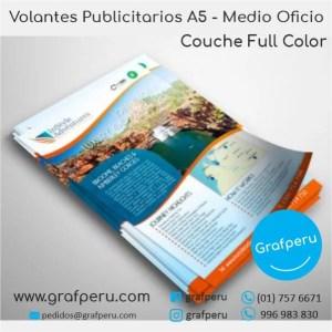 VOLANTES MOSQUITOS COUCHE A5 MEDIO OFICIO PUBLICITARIOS GRAFPERU LIMA PERU