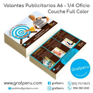 VOLANTES MOSQUITOS COUCHE A6 CUARTO OFICIO PUBLICITARIOS GRAFPERU LIMA PERU