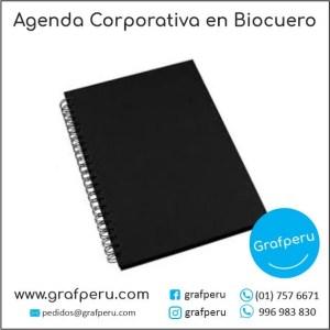 AGENDAS CORPORATIVAS ANILLADAS BIOCUERO PUBLICITARIA EMPRESAS TAPA DURA GRAFPERU LIMA PERU
