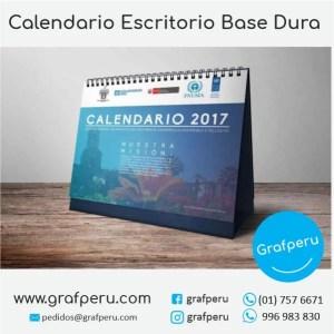 CALENDARIOS PUBLICITARIOS CORPORATIVOS EMPRESAS BASE DURA GRAFPERU LIMA PERU