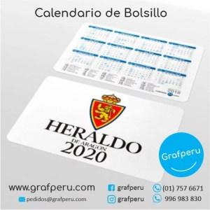CALENDARIOS PUBLICITARIOS CORPORATIVOS EMPRESAS BOLSILLO BARATO GRAFPERU LIMA PERU