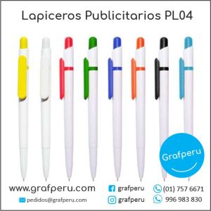 LAPICEROS PUBLICITARIOS CORPORATIVO 04 LOGO ECOLOGICOS BARATOS ECONOMICOS GRAFPERU LIMA PERU