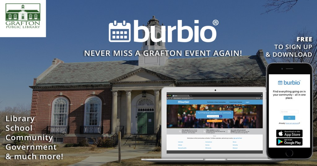 Never Miss a Grafton Event! Sign up for a Burbio Feed of all Town Calendars