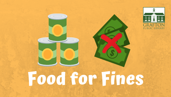 Food for Fines through Dec 31st!