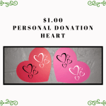 $1 donation - small heart