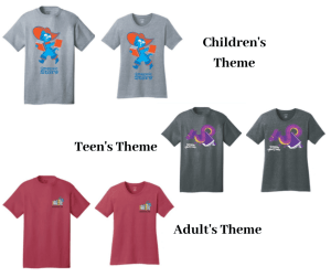 Friends Fundraiser: Summer library program tshirts! 3 designs for youth, teens and adults