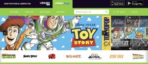 screenshot from ComicsPLUS website featuring Toy Story