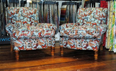 Armchairs in Butterfly fabric