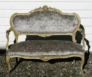 Gilded antique settee