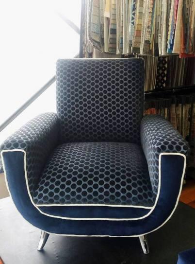 Retro spotty chair