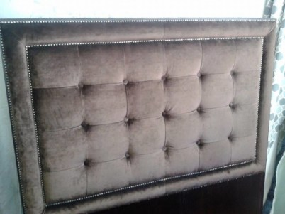 An example of headboard styles, with velvet, studs and buttoning
