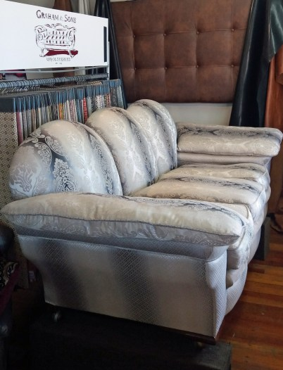 Frames strengthened, new sprung seats, feather cushions, memory foam backs. 3 pc suite$13,600