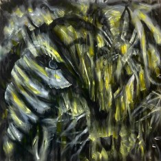 Interface - The smile on the face of the Tiger Oil & Acrylic on canvas 5 x 5 ft