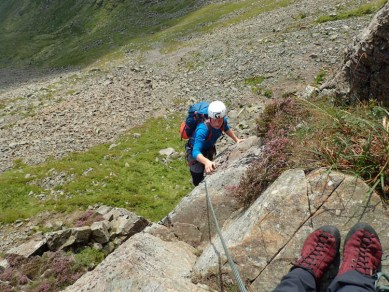 Alan on the first pitch of Harrow Wall