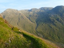 The Scafell Pike group from the top of Needle Ridge
