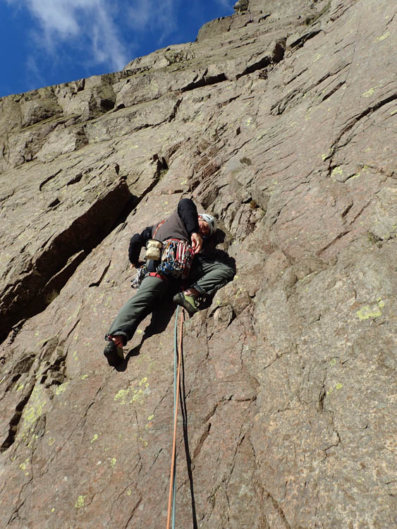 Dave setting out on Pitch 1 of Tophet Wall