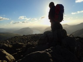 Dave on the summit of Great Gable