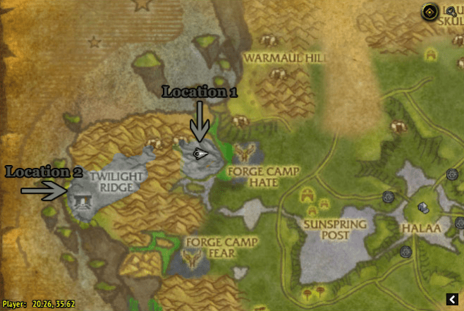 Locations 1 and 2