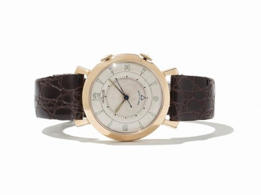 This LeCoultre Memovox is fairly typical of the 1950's hand-wound series
