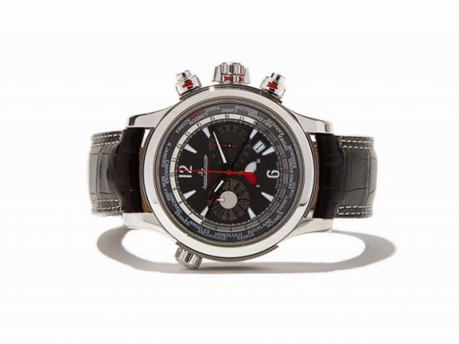 The first in-house automatic chronograph from Jaeger-LeCoultre was this Jaeger-LeCoultre Master Compressor Extreme World Chronograph